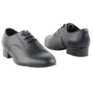 919101B Black Leather Kid's Ballroom Dance Shoes