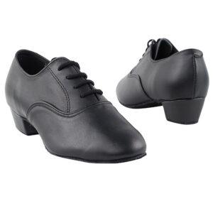 915108B Black Leather Kids Boy's Latin Dance Shoes